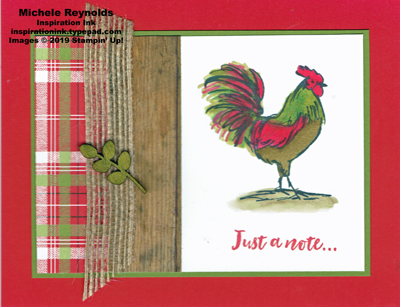 Home to roost rooster plaid watermark