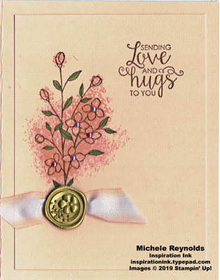 Touches of texture flower seal love watermark