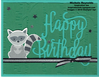 Foxy friends raccoon birthday watermark