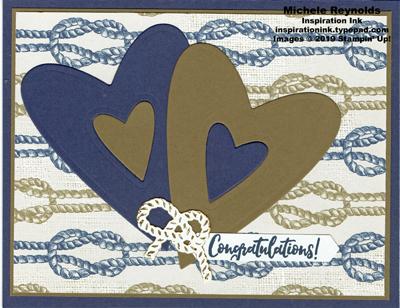 Delightful day knot tying hearts watermark