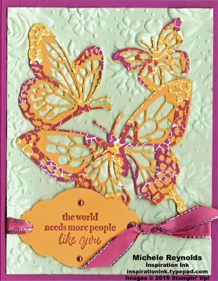 Beautiful bouquet mottled butterflies watermark