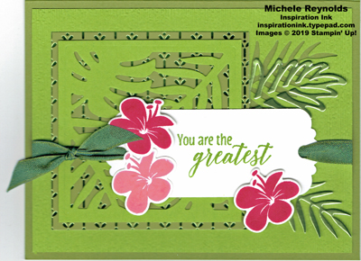 Tropical chic greatest hibiscus tag watermark