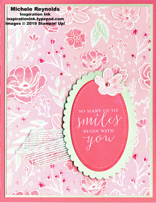 Detailed with love floral smiles watermark