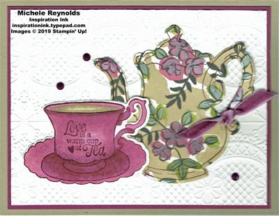 Tea together floral teapot watermark
