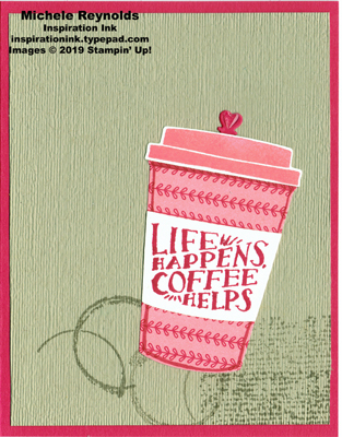 Coffee cafe striped life cup watermark