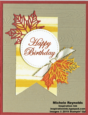 Colorful seasons birthday leaves banner watermark