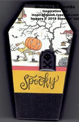 Spooktacular bash spooky graveyard coffin watermark