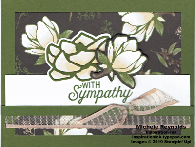 Flourishing phrases magnolia sympathy watermark