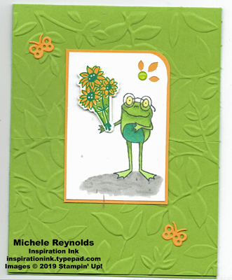 So hoppy frog bouquet easel closed watermark
