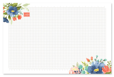 Floral grid paper