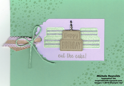 Piece of cake cut the cake tag watermark