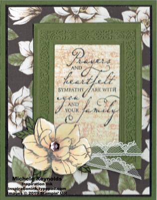 Woven heirlooms magnolia sympathy watermark