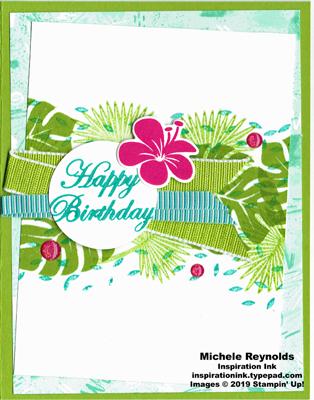 Tropical chic tropical birthday watermark