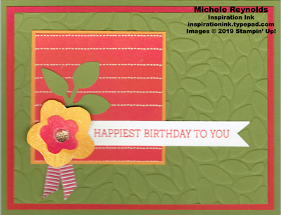 Needle & thread mango flower birthday watermark