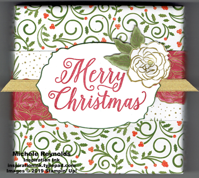Christmas rose decorated box watermark