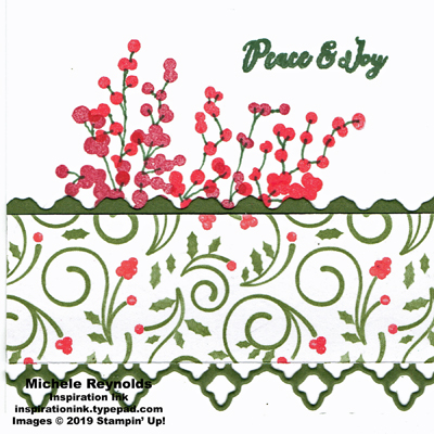 Christmas rose holly berry peace and joy watermark