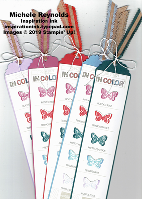 Butterfly wishes new in color bookmarks watermark