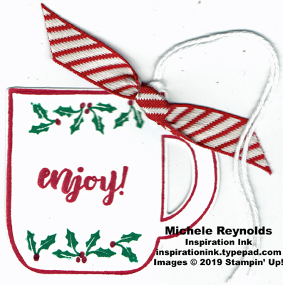 Cup of christmas enjoy mug tag watermark