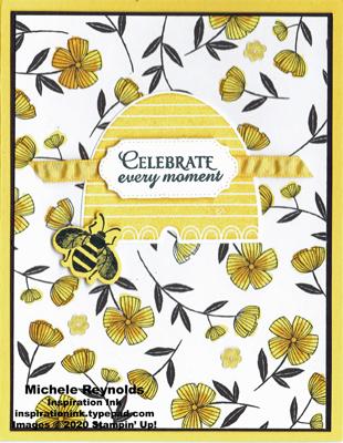 Honey bee floral bee hive watermark