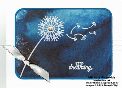 Silhouette scenes dreaming dandelion watermark