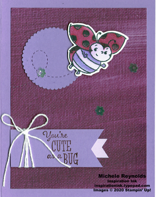 Little ladybug cute purple bug watermark
