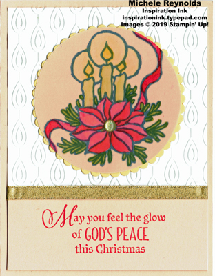God's peace vellum candles watermark