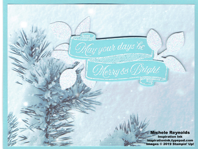Toile christmas frosted wishes blue watermark