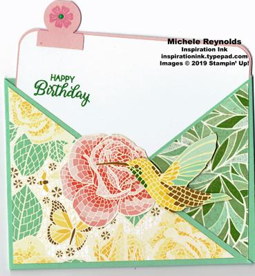 Beautiful bouquet mosaic crisscross watermark