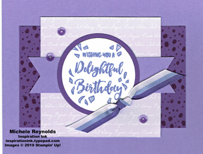 Delightful day purple confetti day watermark