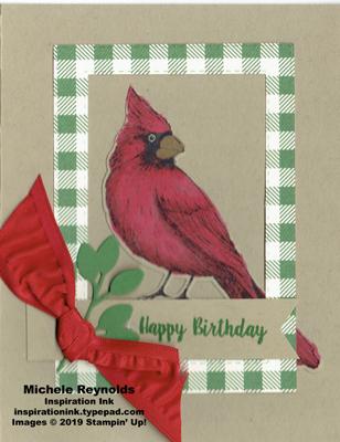Toile christmas framed birthday cardinal watermark