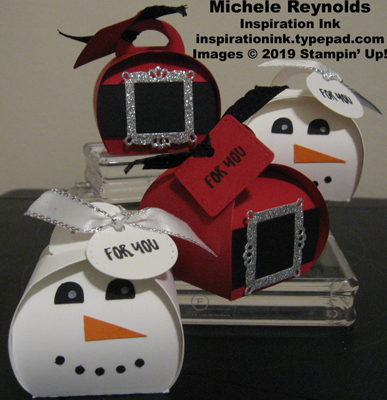 Delightful day snowman and santa keepsakes boxes