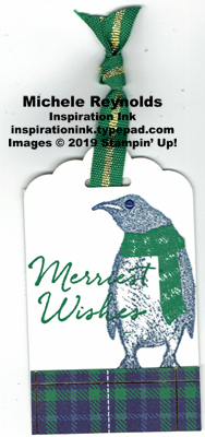 Playful penguins plaid penguin tag watermark