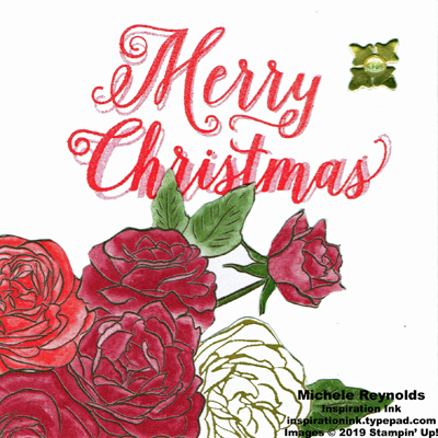 Christmas rose bouquet christmas watermark