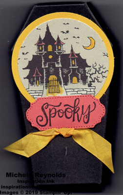 Spooktacular bash haunted house coffin watermark