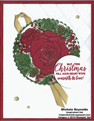Christmas rose warmth and love circles watermark