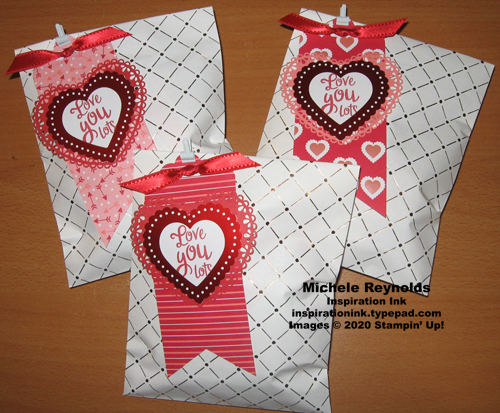 Heartfelt valentine treat bags