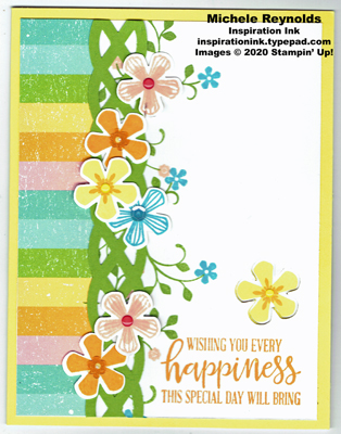 Thoughtful blooms rainbow flower happiness watermark