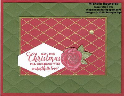 Christmas rose tufted diamond wishes watermark