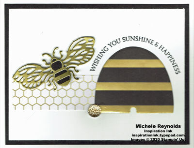 Honey bee big gold bee watermark
