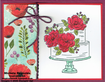 Happy birthday to you poppy cake watermark