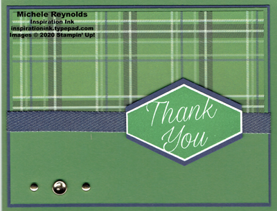 Accented blooms plaid thank you watermark
