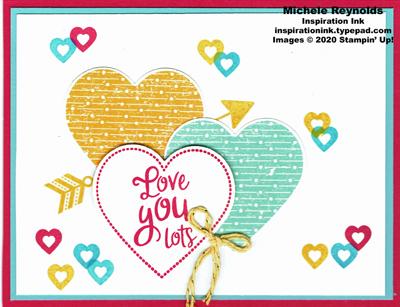 Heartfelt multiple color hearts watermark
