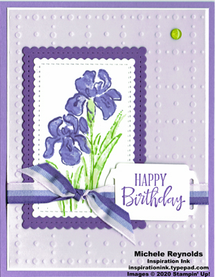 Inspiring iris framed flowers birthday watermark