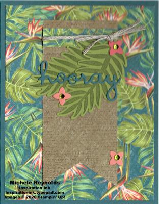 Tropical chic hooray leaves watermark
