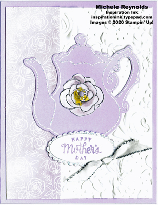 Tea together sparkly purple teapot watermark