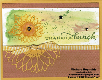 Celebrate sunflowers watercolor wash thanks watermark