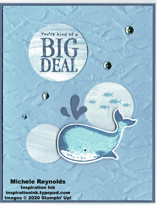 Whale done big deal bubbles watermark