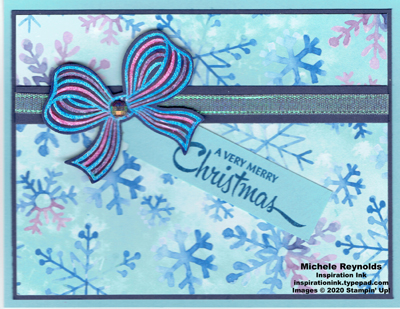 Gift wrapped snowflake package watermark