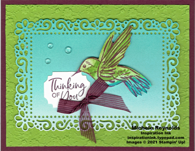A touch of ink framed hummingbird thoughts watermark