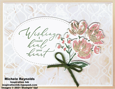 Art gallery heartfelt gilded bouquet watermark